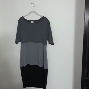 LULAROE - Colorblocked Julia Dress